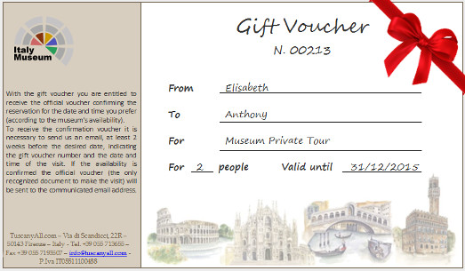 Gift Voucher – Tickets, Guided and Private Tours