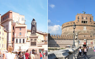 Castel Sant'Angelo and Campo de' Fiori  Private Tour