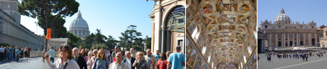 Guided Group Tours Vatican Museums and Sistine Chapel and St. Peter's Basilica